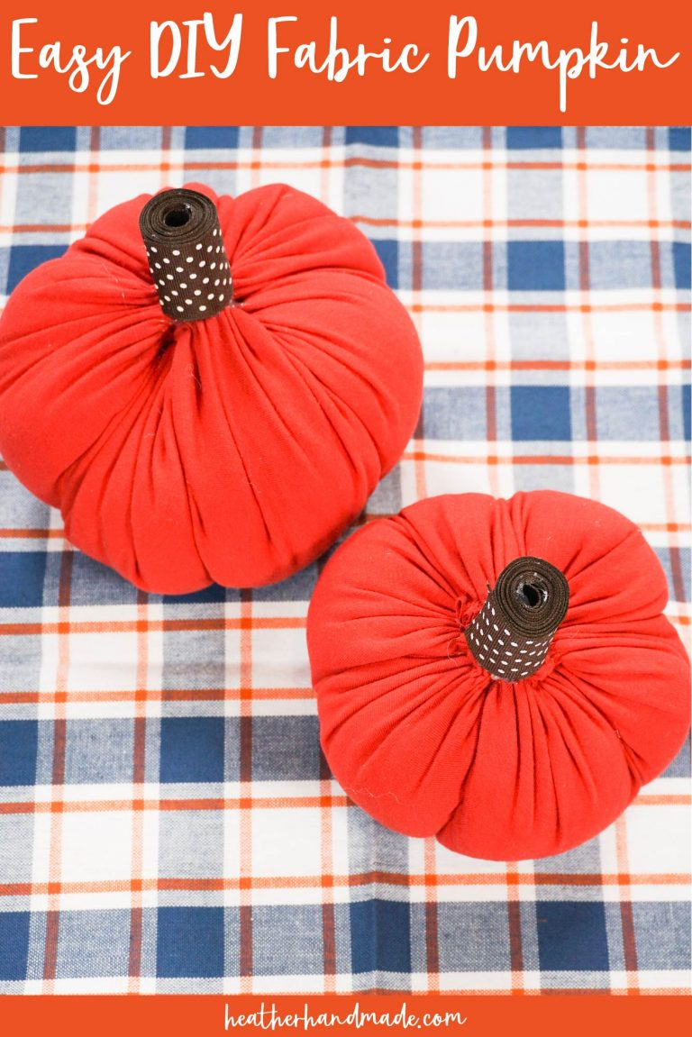 Easy Fabric Pumpkins - DIY Sewing Tutorial