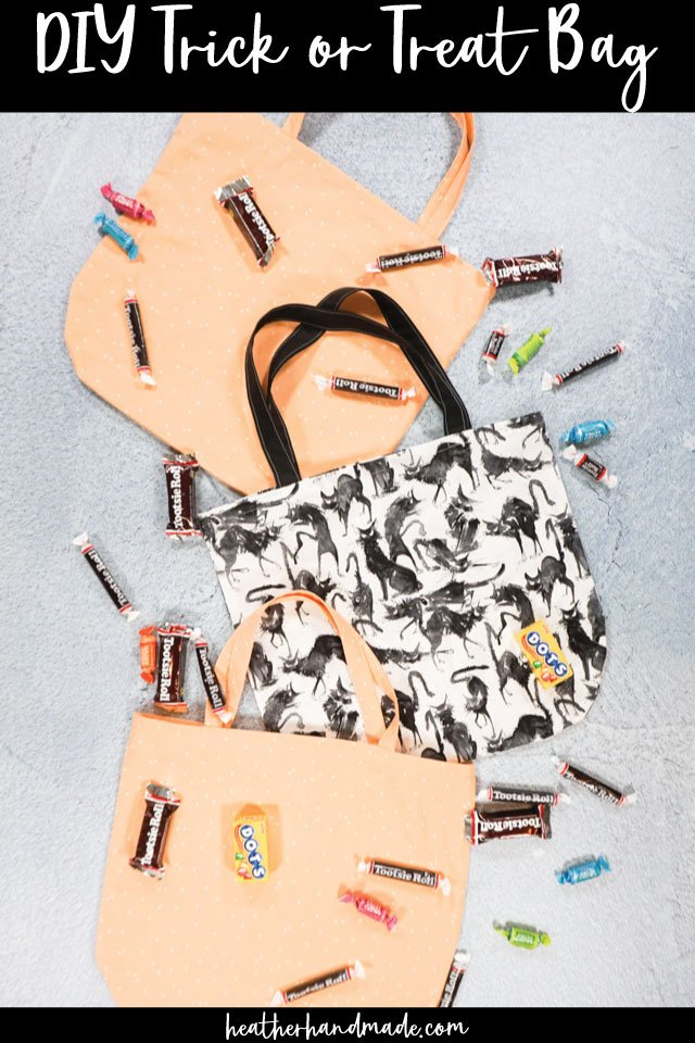 Easy Trick or Treat Bag for Halloween - DIY Sewing Tutorial