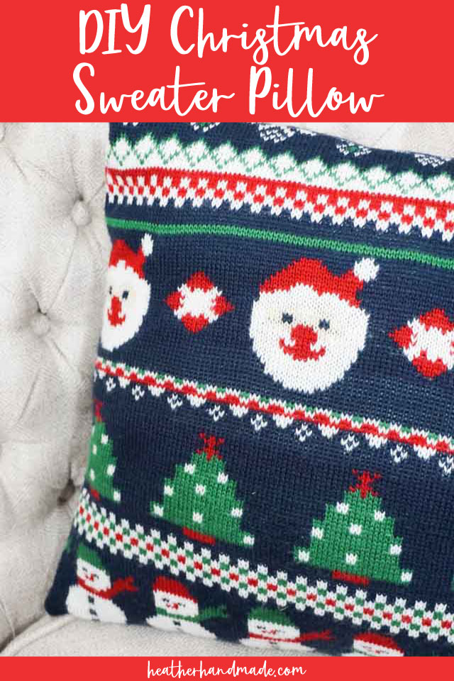 Christmas Sweater Pillow - DIY Sewing Tutorial