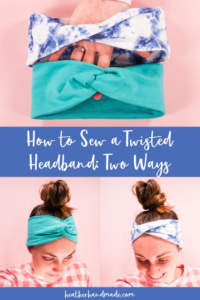 2 Ways to Make a Twisted Headband - DIY Sewing Tutorial