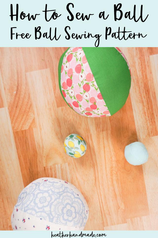 Soft Fabric Ball - Free Sewing Pattern