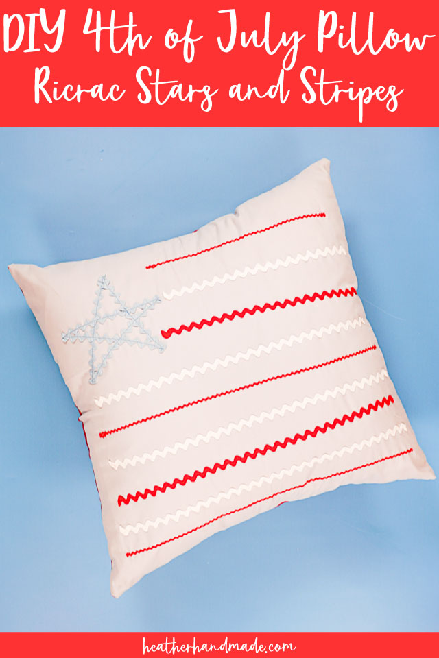 Ric Rac Flag 4th of July Pillow Sewing Tutorial