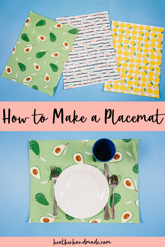 Easy Fabric Placemats that Beginners Can Sew