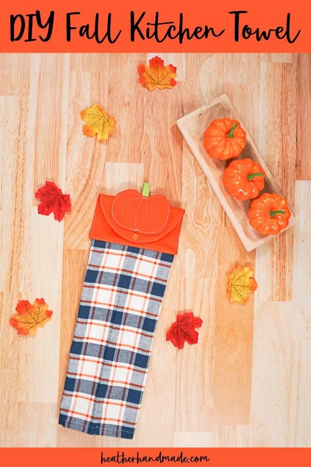 Fall Hanging Kitchen Towel Sewing Tutorial