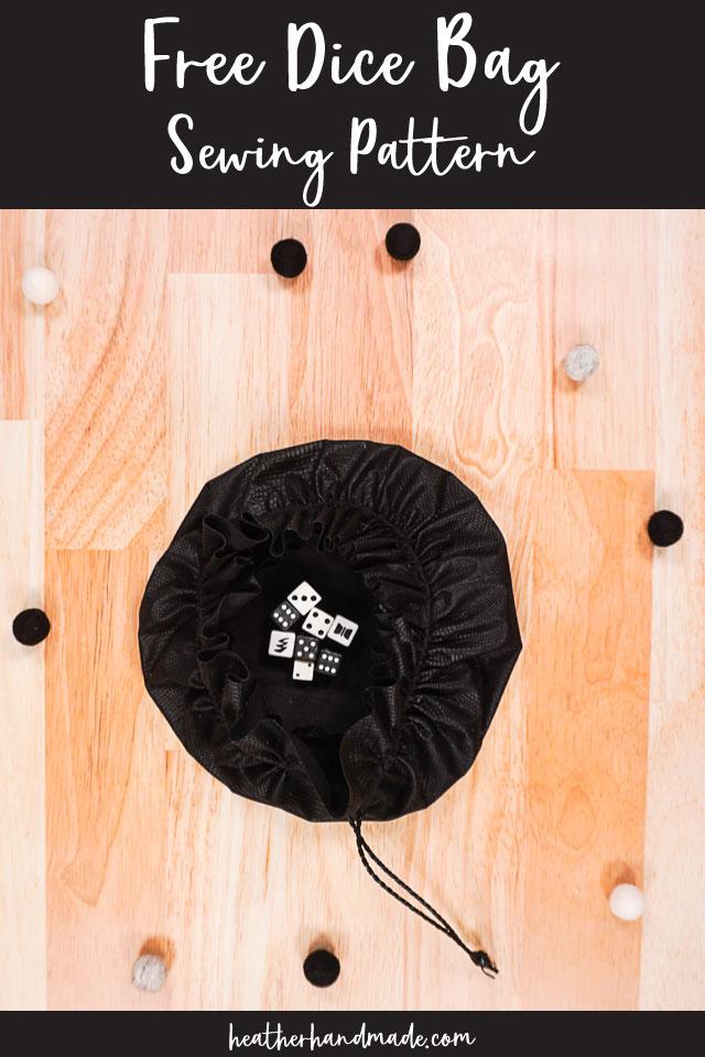 DIY Dice Bag Free Sewing Pattern