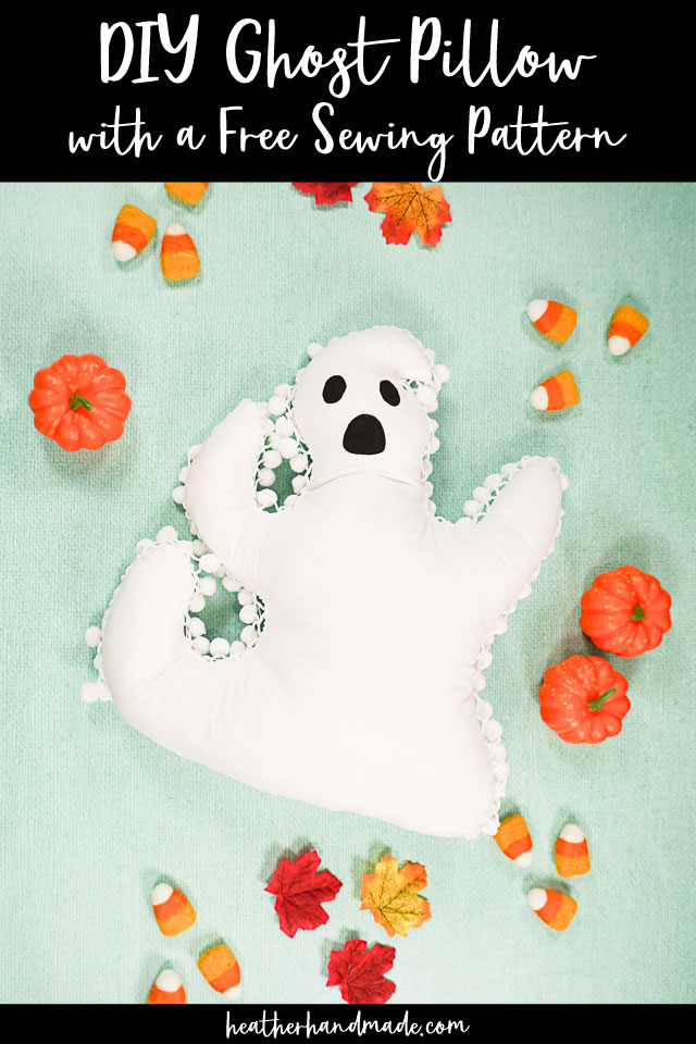 Pom Pom Ghost Pillow - Free Sewing Pattern