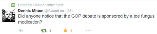 2nd GOP Debate Tweet