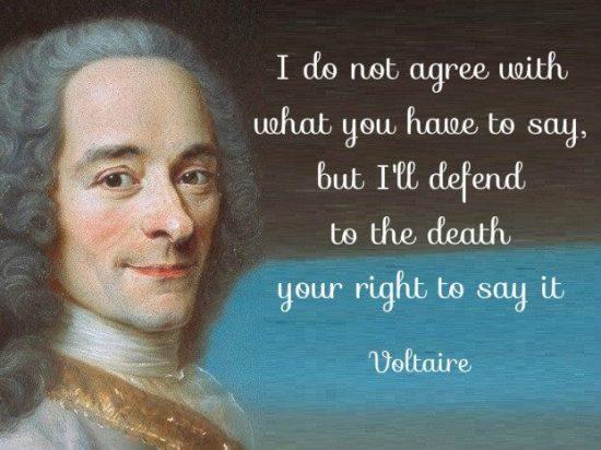 Voltaire freedom of speech