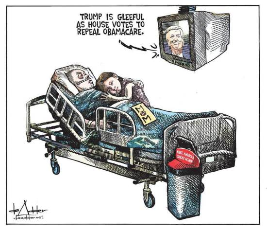 Anti-AHCA cartoon.