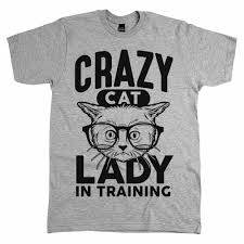 Crazy Cat Lady in Training T-Shirt for tweets