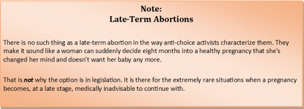 A note on late-term abortions