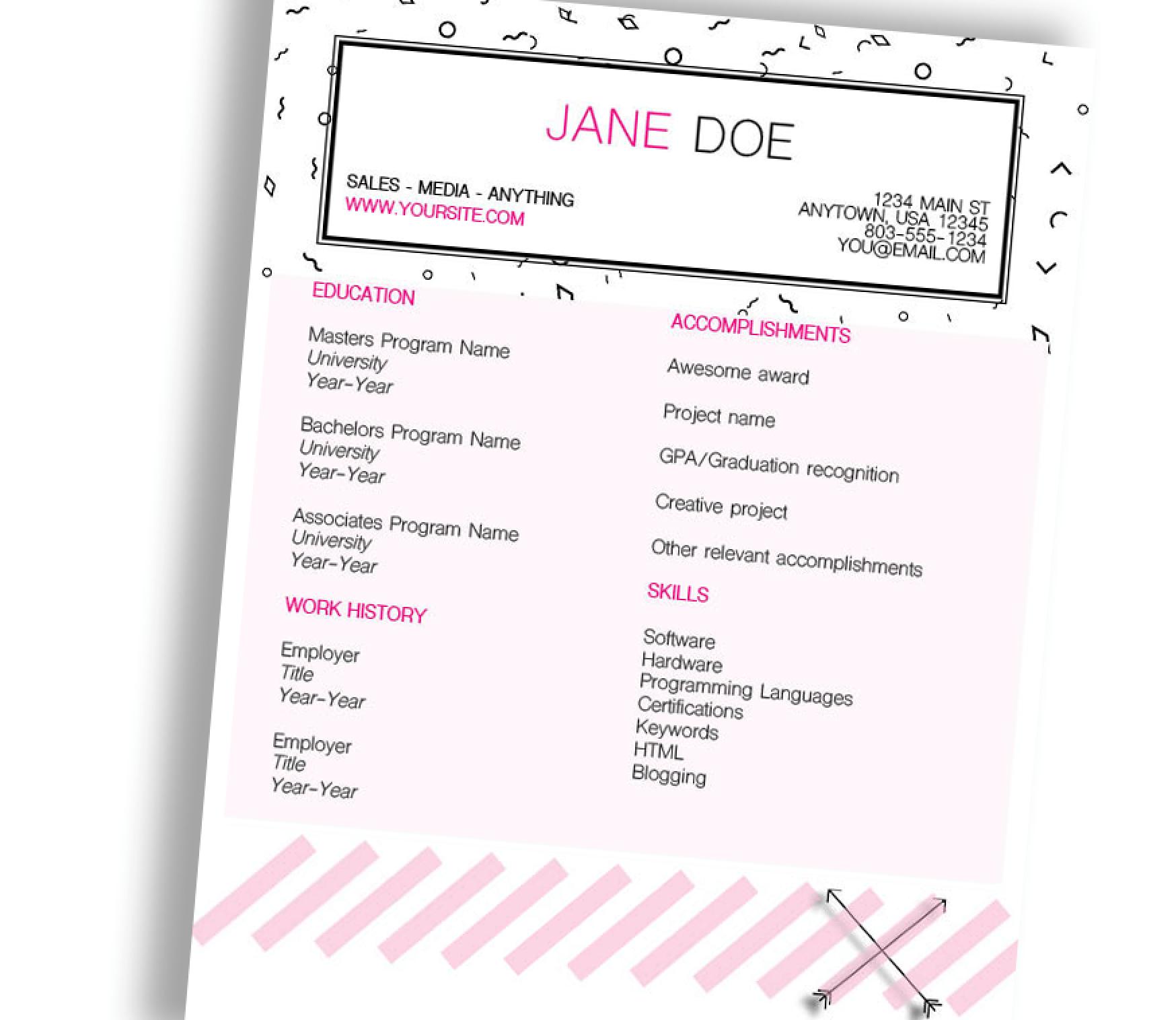 Diamonds CV/Resume InDesign Template (Free Download)