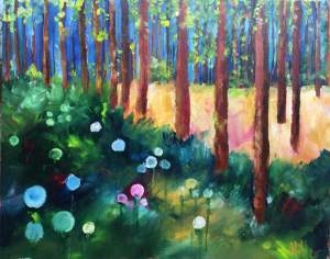 Enchanted Trees. Acrylic on Canvas. 75cm x 60cm. £100.00 direct from Artist
