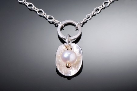 Petal and Pearl Necklace