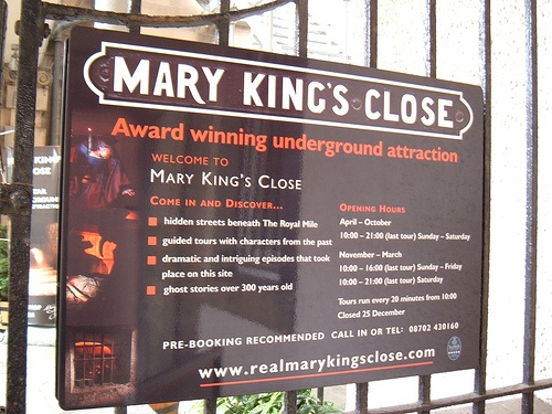 Cerca de Mary King en Edimburgo Foto: ztephen en Flickr