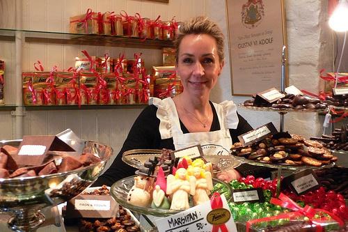 Jeanna Kanold at the Kanold Chocolate shop in Gothenburg, Sweden Photo: Heatheronhertravels.com