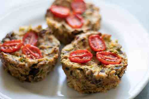 mini crustless vegan quiche