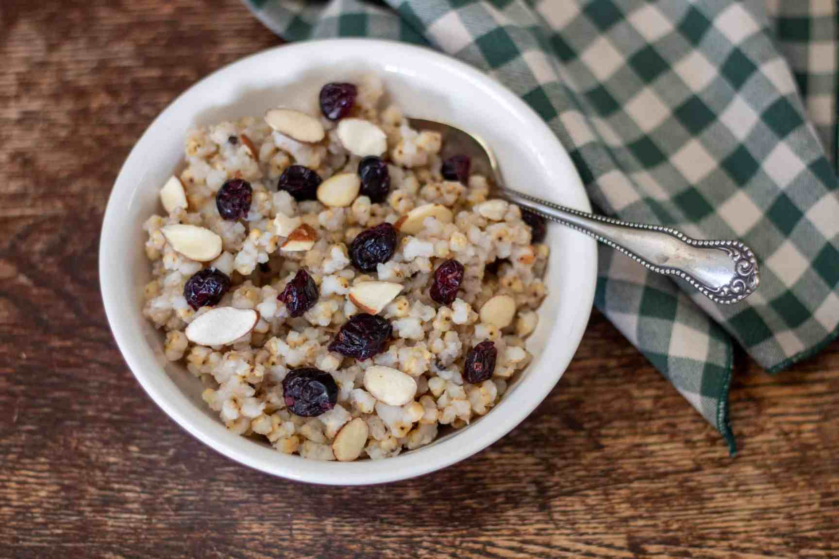 slow cooker sorghum cereal