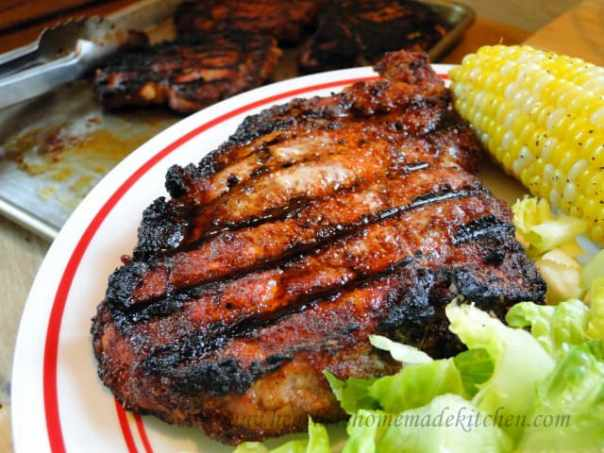 Grilled Spiced Pork Chops