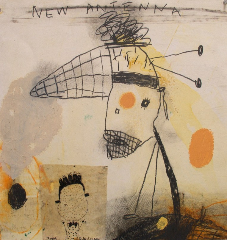 """Collage, drawing, 22x22"""" 2003"""