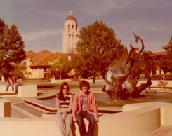 Mona and Michael at Stanford University in 1976