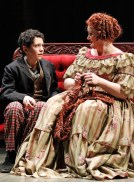 Jonah Rawitz and Liz McCartney in Sweeney Todd at Drury Lane Oakbrook