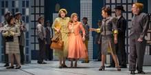Bri Sudia, Lauren Molina, and ensemble in Goodman Theatre's Wonderful Town