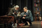 Mike Nussbaum and Coburn Goss in Freud's Last Session at the Mercury Theater