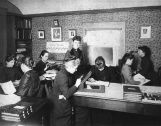 1891 photo of women working at Harvard College Observatory