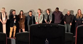 Stephen Cone and some cast and crew at the Chicago International Film Festival premiere of Princess Cyd