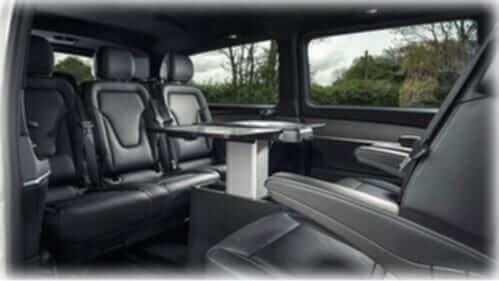 7 seater mercedes v class interior black seat