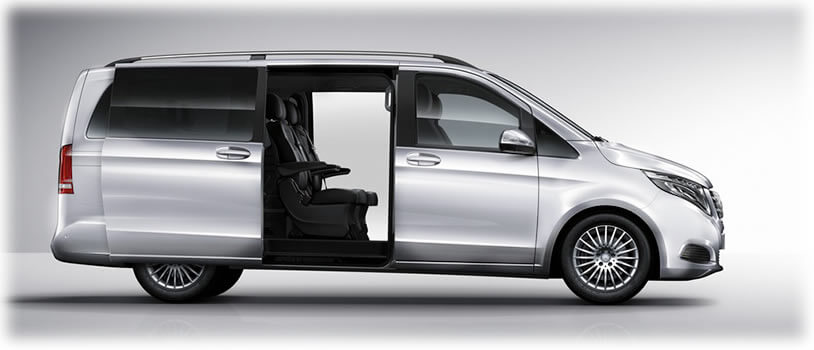mercedes mpv 7 seater chauffeur hire mercedes v class