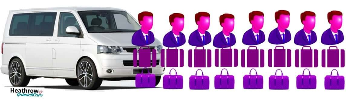 8 seater minican taxi transfer from heathrow to gatwick