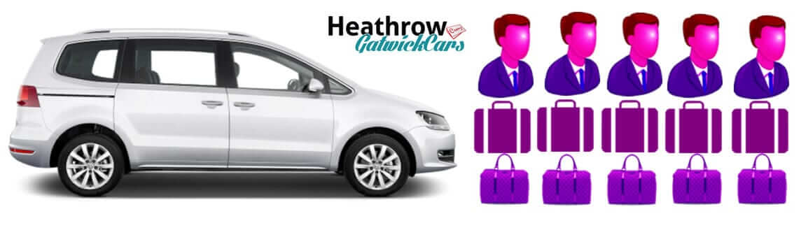 mpv 5 seater people carrier transport from gatwick to heathrow