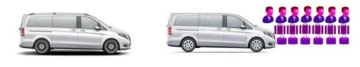 vehicle rental fleet MPV Executive 7 Seater V Class