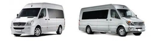 vehicle rental fleet Mercedes Benz Sprinter 16 and 24 Seater