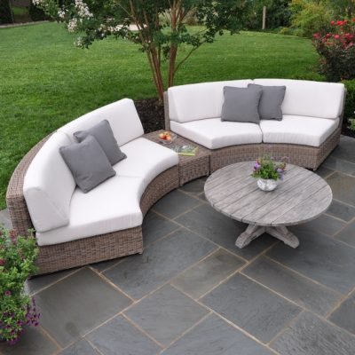 harbor beach curved sectional patio