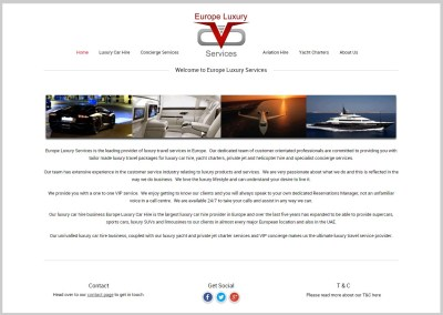 Europe Luxury Services – Car, Aviation and Yacht Hire services