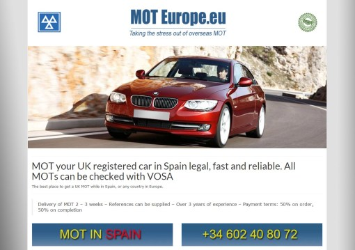 MOTEurope.eu – MOT UK Vehicles in Spain and Europe