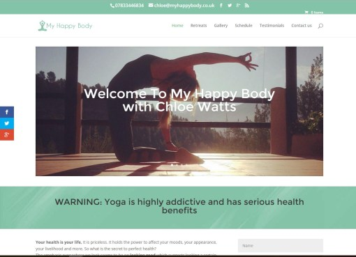 Myhappybody.co.uk – Personal Trainer and Yoga Instructor