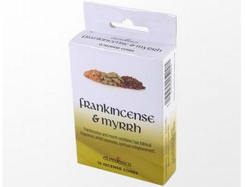frank and myrrh incense cones elements