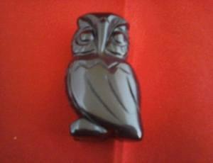 Black Obsidian Crystal Owl