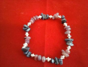 Ruby and Sapphire bracelet spacer