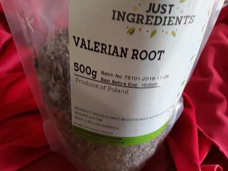 Valerian root in bag