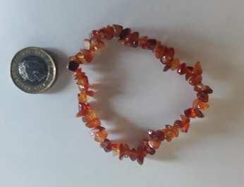 Cognac Amber chip bracelet2 new