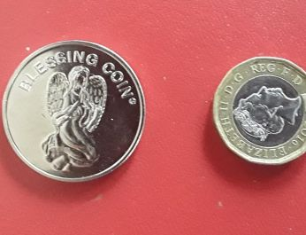 Angel blessing coin 2