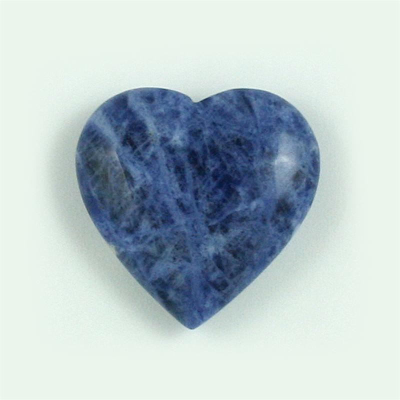 sodalite polished gemstone hearts 25mm