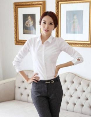Model Kemeja Wanita Korea Modis dan Trendy Terbaru