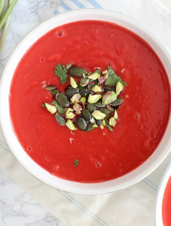 Sweet Potato and Beetroot Soup with Blood Oranges