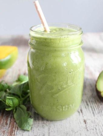 Green Mango Basil Smoothie